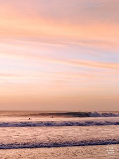 Rose gold sunset waves breaking in Costa Rica. sunset wave print by Samba to the Sea at The Sunset Shop. Image of breaking waves during a beautiful sunset in Costa Rica.