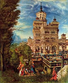 Albrecht Altdorfer - In 1510 Altdorfer traveled through the Alps, visiting France, Austria, Switzerland and possibly Italy. Then he returned to Ragensburg, It was here that he married en 1513. Altdorfer was appointed the city architect in 1526. He was elected Mayor of Regensburg in 1528, but déclined the position as he was commissioned to create the Battle of Alexandr for Duke Wllohelm IV of Bavaria. He was leader of the Danube School in Southern Germany.