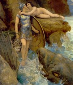 Perseus Rescues Andromeda by Charles Napier Kennedy