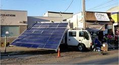 ★☯★ #Solar #Truck Bringing #Emergency #Energy to #Rockaway  Truck that #Greenpeace built about 10 years ago It's able to store 50 #kilowatt -hours of energy. Solar #panels charge an array of #batteries inside the truck -- ★☯★ #Camion #solaire fournit énergie d' #urgence à #Rockaway Un camion que #Greenpeace a construit il y a 10 ans.  Il est capable de stocker 50 #kilowatts -heures d'énergie. #Panneaux #solaires chargent une gamme de #piles à l'intérieur du camion  #Sun #Bio #charger…