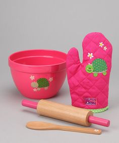 Take a look at this Pink Turtle Toy Cook Set by Stephen Joseph on #zulily today!