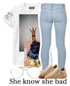 """""""whats new ??"""" by trapsoul ❤ liked on Polyvore featuring Marc by Marc Jacobs, Puma and CÉLINE"""