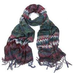 ladies scarf Teal Suki Vibrant design scarves shawls wrap neck soft fashion