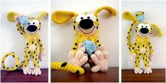 Marsupilami Crocheted Toy [FREE Crochet Pattern]
