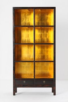 Gold leaf-backed bookcase#Repin By:Pinterest++ for iPad#