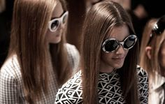 A nod to mod - Backstage at the Ralph Lauren Collection Spring 2014 Runway show