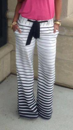 Pants: sweatpants, stripes, ombre - Wheretoget