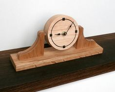 wooden clock desk or bedside  maple and walnut by DavidTowers