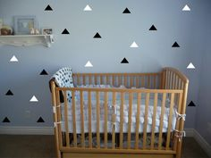 Set of 40 Tribal Triangle vinyl wall decals by VinylLettering, $11.99