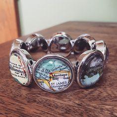 Montego Bay sounds pretty lovely right now ❄️❄️❄️ #mapbracelet #mapjewelry #charmbracelet #montegobay #jamaica #travel #traveler #traveling #travelgram #instatravel #wanderlust #dingle #williamsburg #etsygifts #etsy #giftideas