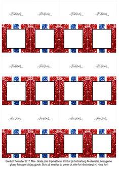 Gratis etiketter/bordkort til 17 Mai på bloggen =)   17. Mai // Gratis print // Bordkort // Etiketter Bar Chart, Printer, Printers, Bar Graphs
