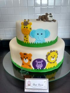 Safari Baby Shower Cake Idea fiesta Yadiel Pinterest Safari