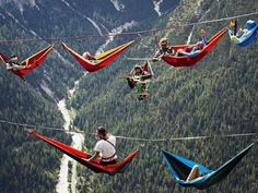 The International Highline Meeting festival in the Italian Alpes Adventure Awaits, Adventure Travel, Nature Adventure, The Places Youll Go, Places To Visit, Voyager Loin, Kayak, Extreme Sports, Adventure Is Out There
