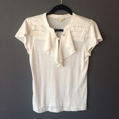 Leifsdottir Tops - Leifsdottir (Anthropologie) silk/cotton Cream top