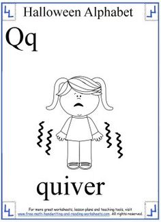 Halloween Alphabet Coloring Page Q