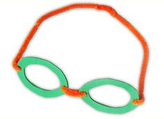 Swimming goggle for Olympics craft.