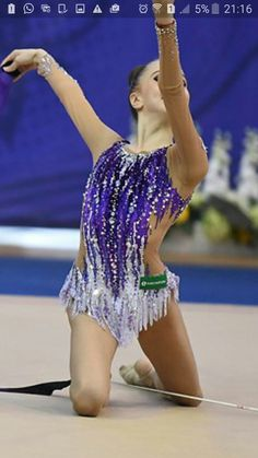 Rhythmic Gymnastics Costumes, Acrobatic Gymnastics, Gymnastics Outfits, Sport Gymnastics, Purple Leotard, Skating Dresses, Costume Design, Cool Outfits, Couture