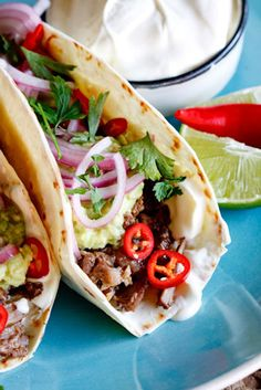 """Slow-Braised Short Rib Tacos With """"Quick Pickled"""" Red Onion"""