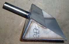 Cut a plate, bend it, weld sides and a handle, sharpen the edge slightly, and you have a dustpan that will last forever, not like the ones you get at the store.