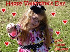 Caylen's Valentine's Day Cards for this year.  :)  We will add a lollipop in her hand to each card.