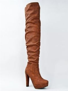 Qupid THEATRE-15 High Heel Platform Over the Knee Thigh High Crinkle Boot ZOOSHOO #fashion #boot #shoes #sexy #beautiful #gorgeous