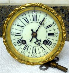 Antique Small Complete French Clock Movement by Marti | eBay