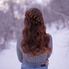 "8,262 Likes, 45 Comments - Mia & Linda (@aurorabraids) on Instagram: ""Half-up pull-through braid with some loose curls that I made on Mia this morning✨"""