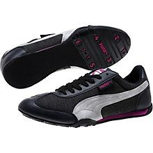 4f610f9ff82 black-white-vivid viola 76 Runner Woven Women s Sneakers Lateral Side
