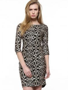 Vila Metallic Sequin Detail Bodycon Dress