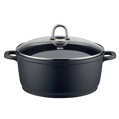 ELO 97116 Rubicast Cast Aluminum Non-Stick Sauce Pot with Glass Lid, 1-1/2-Quart, Black