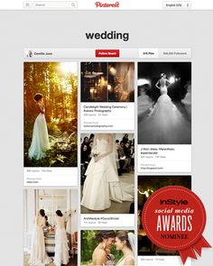 Hiii! I was just nominated for InStyle's first ever Social Media Awards for best wedding inspiration. If you love this board, please please vote for me! I'd really appreciate it :) thank you! Hope my boards make you as happy as they make me ☀