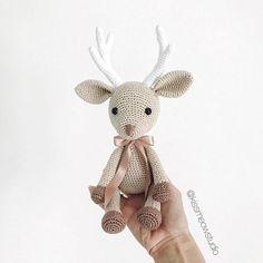 Crochet toy, amigurumi, crochet pattern, crochet deer, amigurumi deer