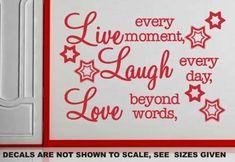 Live Laugh Love Inspirational Quotation Wall Art Sticker Vinyl Decal Various Sizes Sticker Vinyl, Wall Decals, African Market, Smooth Walls, Beyond Words, Live Laugh Love, Kitchen Wall Art, Beautiful Wall, Vinyl Designs