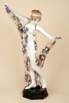 Rudolf Podany - Jugendstil Fayence - Tanzspiel mit Bändern