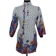 Ibaexports Printed Beach Kurti Floral Women Long Shirt Cotton Evening Blouse Tank Top Tunic India Clothing Casual Wear Dress Size L ibaexports. $25.99