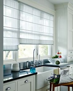modern kitchen window treatments yellow appliances treatment how to create decor hunter douglas design studio roman shade is the perfect addition this
