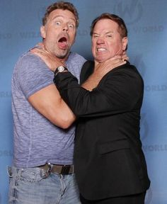 John Schneider and Tom Wopat. Funny picture.