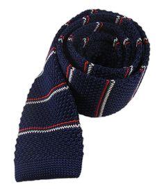 Knarrow Knit Stripe - Navy - Knarrow Knit Stripe - Navy - Browse our Bow Ties, Cufflinks, Pocket Squares and Tie Bars