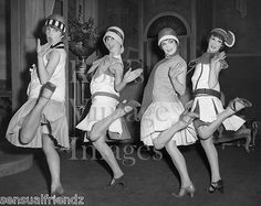 Vintage Ladies Dancing Charleston Photo 1920s Flappers Jazz Prohibition era