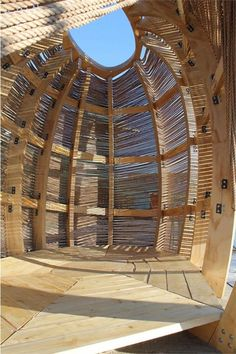 shaded space. Could be an interesting use of pieces of recycled wood or bamboo for extra space like office or guest house.