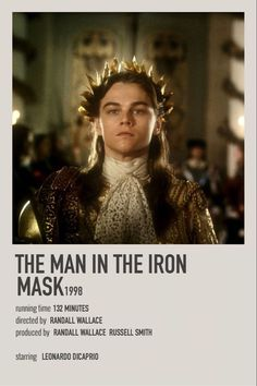 The Man In the Iron Mask Iconic Movie Posters, Movie Poster Art, Iconic Movies, Film Posters, Movie To Watch List, Good Movies To Watch, Best Classic Movies, Leonardo Dicaprio Movies, Movie Hacks
