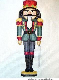 James nutcracker cross stitch pattern.