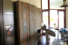 Kitchen furniture from reclaimed wood