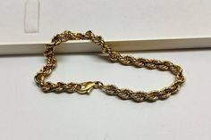 Kordelarmband Armband Gold 333 elegant 50er Jahre Vintage