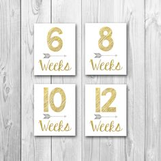Pregnancy countdown, weekly pregnancy signs, gold sparkle, silver sparkle, pregnancy photo props - pinned by pin4etsy.com