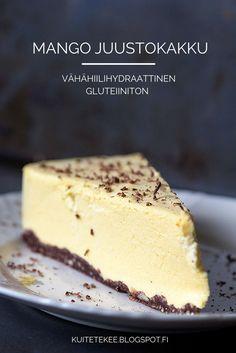 Karppaajan Mangojuustokakku, vähähiilihydraattinen juustokakku, lowcarb