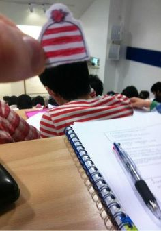 Made the guy in front of me Waldo.