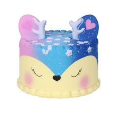 MUQGEW Cake Giant squishy Galaxy Jumbo Deer Cake Slow Rising Scented Squeeze Stress Relief Toy Collection Poopsie In Gags Toys MUQGEW Cake Giant squishy Galaxy Jumbo Deer Cake Slow Rising Scented Squeeze Stress Relief Toy Collection Poopsie In Gag. Balle Anti Stress, Deer Cakes, Cute Squishies, Galaxy Cake, Slime And Squishy, Cake Squishy, Zucchini Cake, Stress Relief Toys, Birthday Cakes