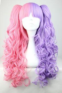 Lolita Split Pink/Purple Wig from Tokimo  $32.00 (http://www.storenvy.com/products/1993594-lolita-split-pink-purple-wig)