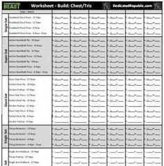 Body Beast Worksheets Dedicated Republic Bodybuildingguide